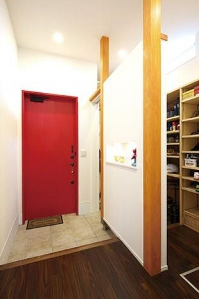 玄関 (間取りや素材も全て希望通りに デザイン設計+注文住宅の魅力満載)