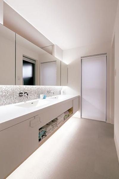 洗面脱衣所 (快適と予算もデザインされた 建築士と建てた5層の家)