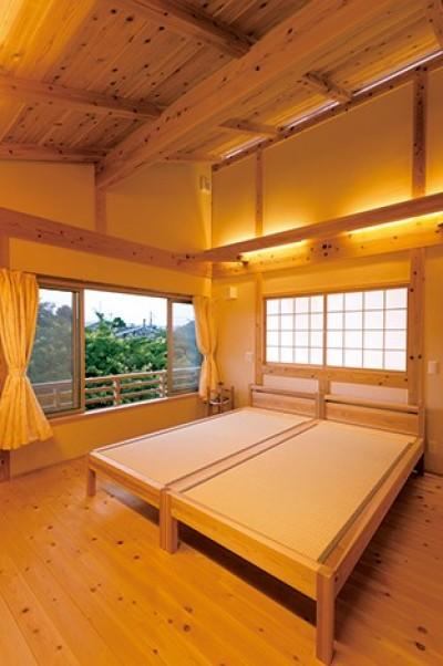 寝室 (娘へと受け継ぐための 風格をまとった伝統家屋)