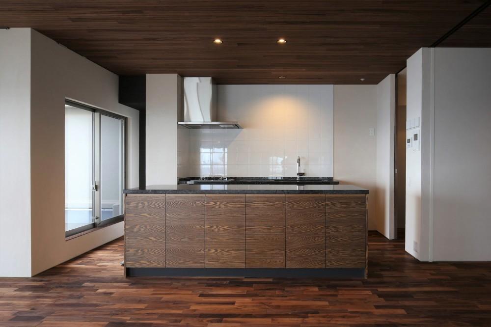 海沿いのマンション最上階のフルリノベーション (ll型オーダーキッチン(CUCINA))