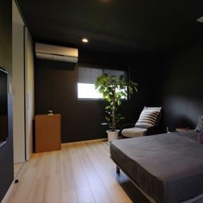 寝室 (大開口窓から自然を楽しむ家)