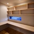 高台に臨む開放感あふれる家の写真 ご主人の書斎