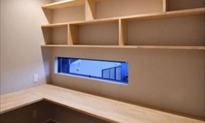 高台に臨む開放感あふれる家 (ご主人の書斎)