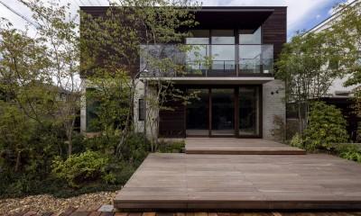 堺の週末住宅 (庭からの外観)