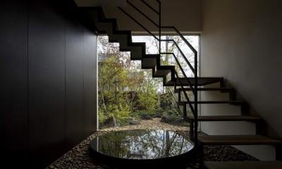 堺の週末住宅 (玄関正面の階段)