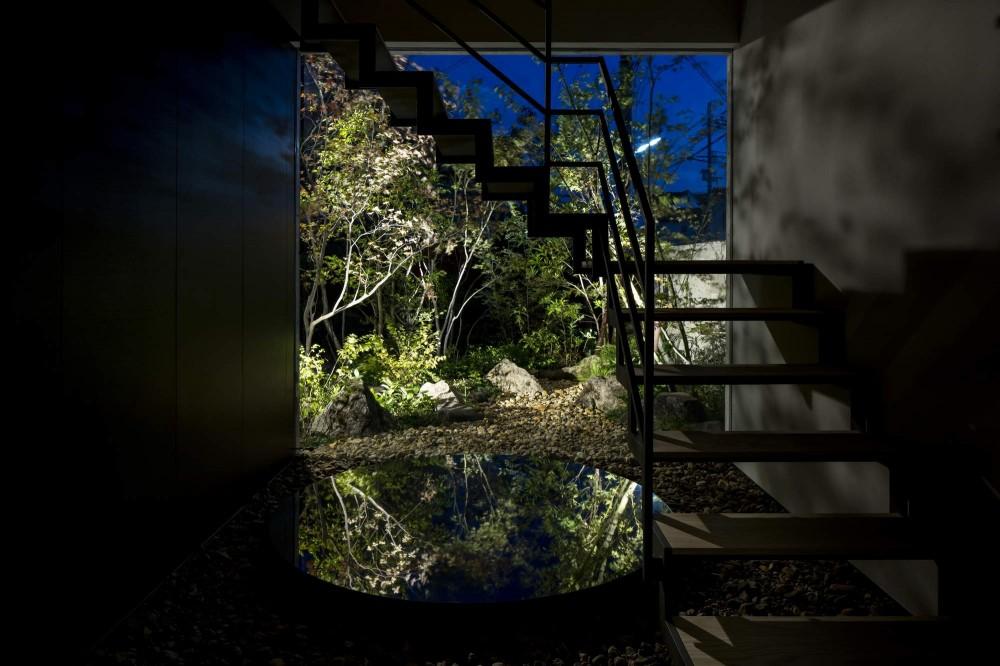 堺の週末住宅 (夜の階段室)