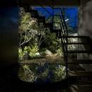 堺の週末住宅の写真 夜の階段室