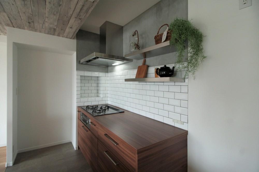 キッチンが中心の2LDK+書斎。料理が楽しくなるリノベーション (キッチン②)