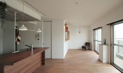 LDK|キッチンが中心の2LDK+書斎。料理が楽しくなるリノベーション