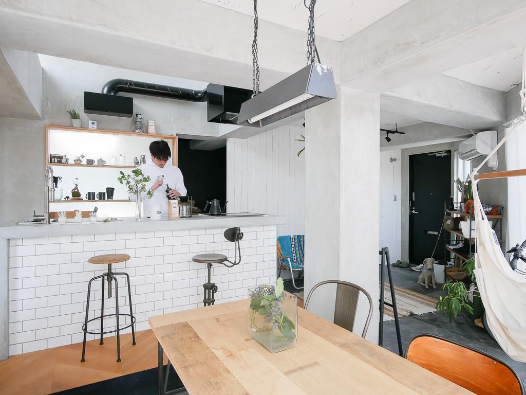 キッチン事例:キッチン2(city surf 都会的サーフデザイン)
