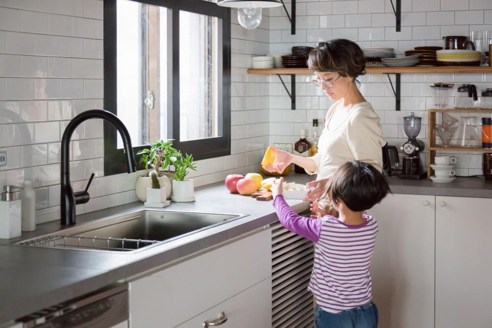 キッチン (流行りやブランドにはとらわれない楽でのんびりできる家)