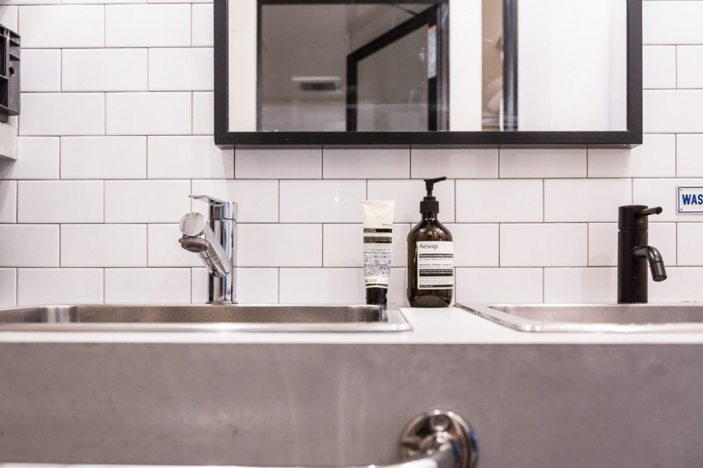流行りやブランドにはとらわれない楽でのんびりできる家 (洗面台2)