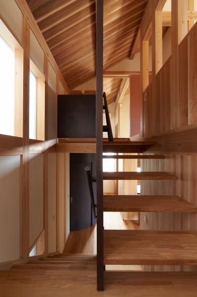 スキップ階段 (スキップフロアの家)