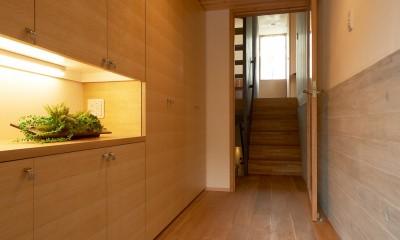 玄関ホール|スキップフロアの家