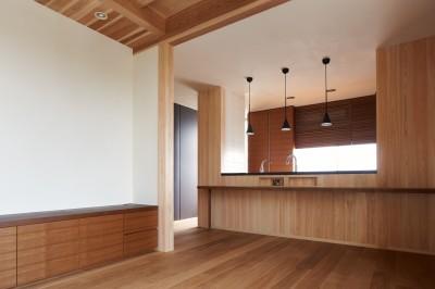 ダイニングキッチン (スキップフロアの家)