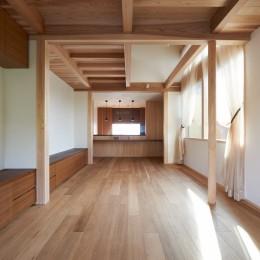 2階:LDK (スキップフロアの家)