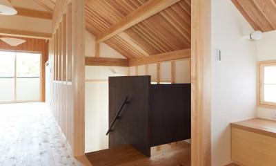 3階ホール|スキップフロアの家