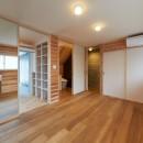 スキップフロアの家の写真 寝室