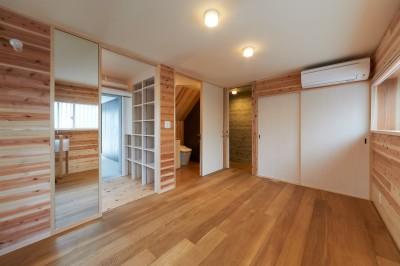 寝室 (スキップフロアの家)