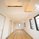 古材を蘇らせた光と風の片流れの家の写真 子供部屋、将来真ん中で仕切って2部屋に。