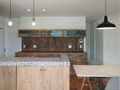 吉野町の家 (キッチン)