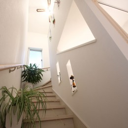 ヨーロピアンシンプルハウス (階段ホール)