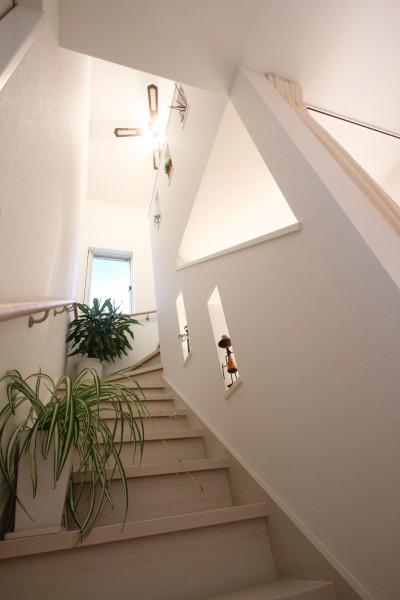 階段ホール (ヨーロピアンシンプルハウス)