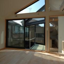 18坪の土地に建つ中庭型住宅 (子供部屋)