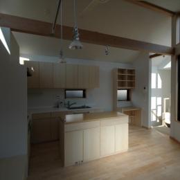 18坪の土地に建つ中庭型住宅 (ダイニング・キッチン)