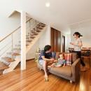 アートリフォームの住宅事例「開放的なナチュラルリビング空間」