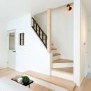 シンプルにおしゃれに暮らす塩系インテリア「imai-segeo」の写真 リビング階段