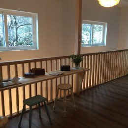 オープンハウスでのアンティーク家具・雑貨コーディネート〜高原の中の家〜 (廊下)