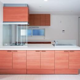足元クビレの高品位キッチン (都内郊外型、1種低層の重厚な家)