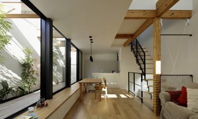 ソト部屋ウチ庭の家
