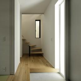 ソト部屋ウチ庭の家 (玄関)