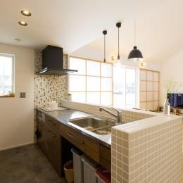 キッチン (Kolmio - 三角屋根が特徴的な平屋みたいな2階建て)