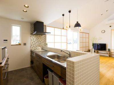 Kolmio - 三角屋根が特徴的な平屋みたいな2階建て (キッチン)