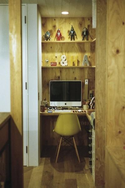 ワークスペース (O邸-趣味とともに暮らす。リビングを充実した生活空間に)
