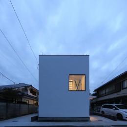 2階リビングの家 ハコノオウチ08 (外観)