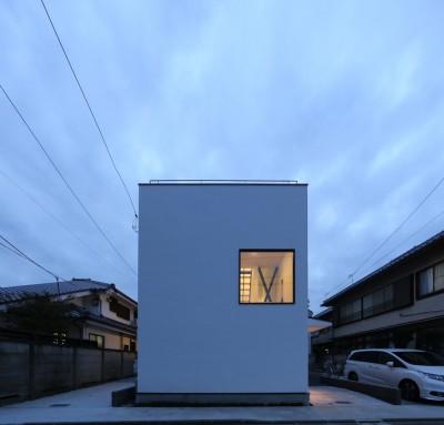 外観 (2階リビングの家 ハコノオウチ08)