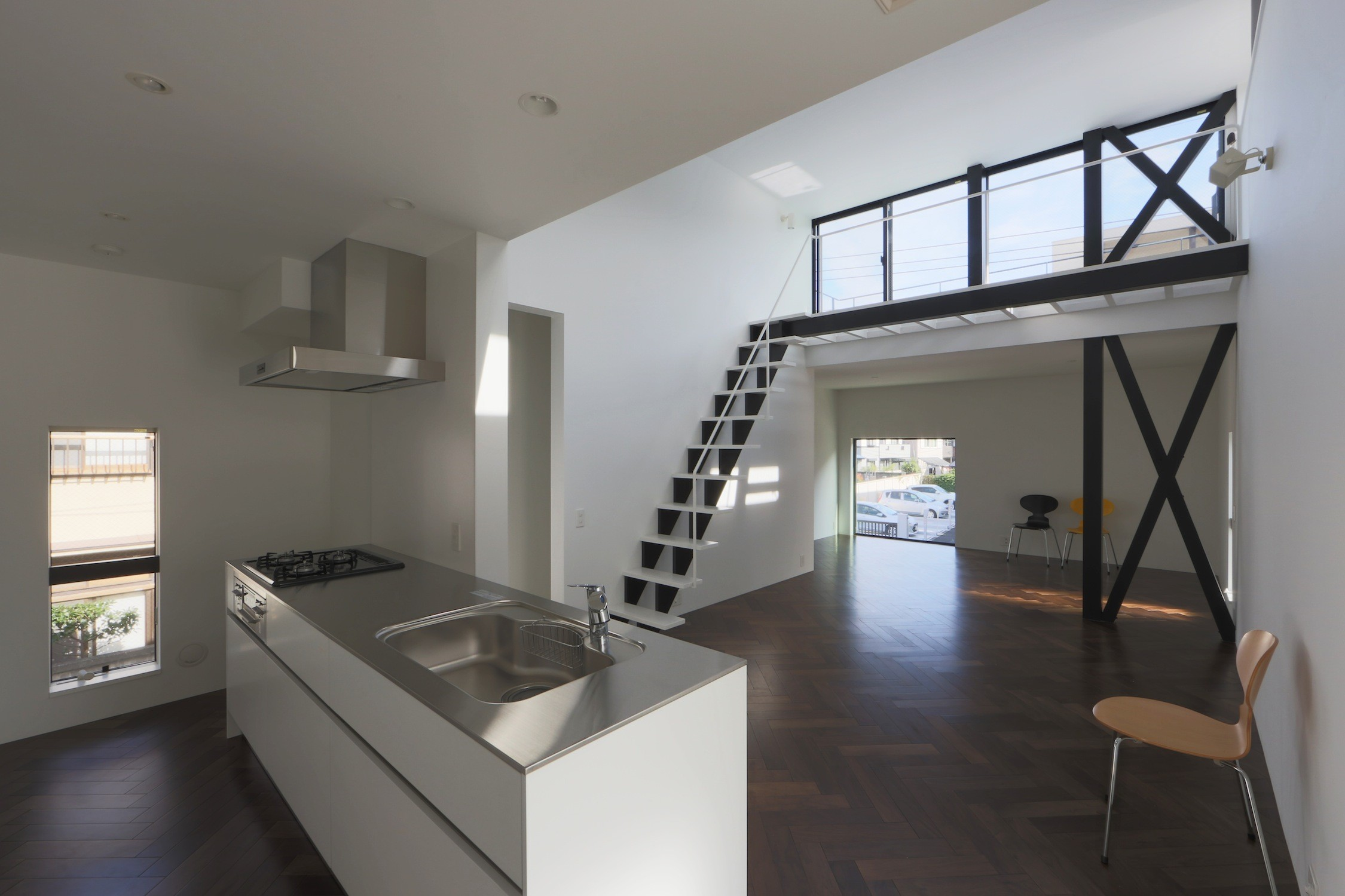 キッチン事例:キッチン(2階リビングの家 ハコノオウチ08)