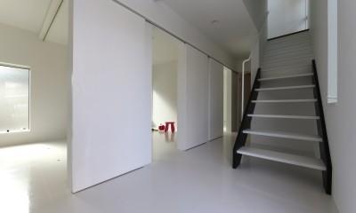 2階リビングの家 ハコノオウチ08 (1階の子供室)