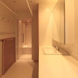 松ヶ崎の家2 (洗面所)