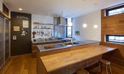 キッチン|京町堀の家