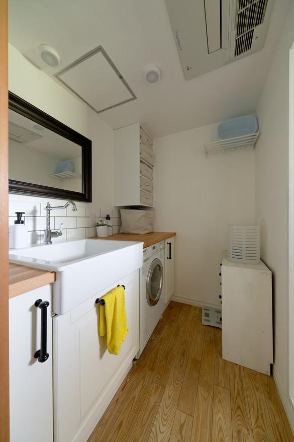 一緒に作るDIY住宅 (洗濯機はビルトインにして広々洗面室へ!)
