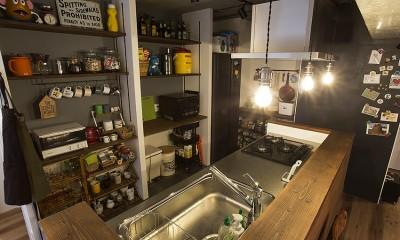 キッチンには壁面収納や黒板塗装も@デコレーション・ハウス|デコレーション・ハウス