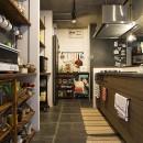 デコレーション・ハウスの写真 造作棚を利用した収納上手なキッチン@デコレーション・ハウス