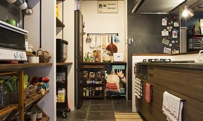 造作棚を利用した収納上手なキッチン@デコレーション・ハウス|デコレーション・ハウス