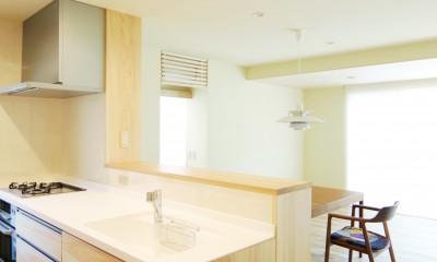 木の造作キッチン|珪藻土の自然素材リフォーム