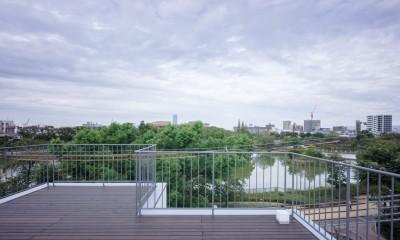 帝塚山の家 (ルーフバルコニー)